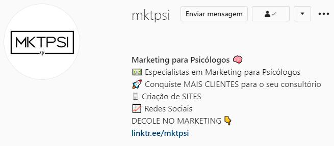 Modelo de Bio para Instagram | Marketing para Psicólogos